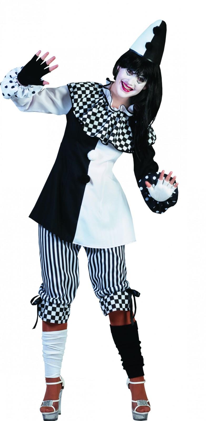 kost m pierrot harlekin clown pantomime damen herren karneval fasching ebay. Black Bedroom Furniture Sets. Home Design Ideas