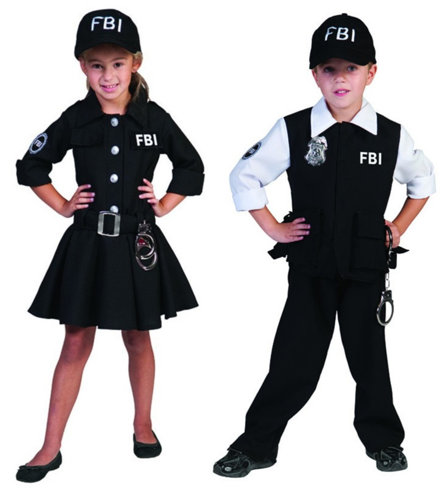 kinder kost m fbi agent agentin mit kappe polizist polizei. Black Bedroom Furniture Sets. Home Design Ideas