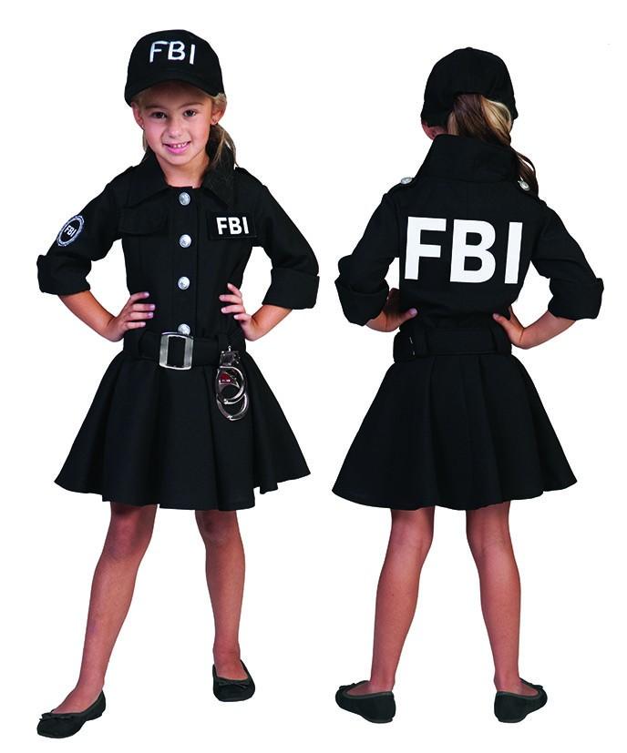 kinder kost m fbi agent agentin mit kappe polizist polizei. Black Bedroom Furniture Sets. Home Design Ideas