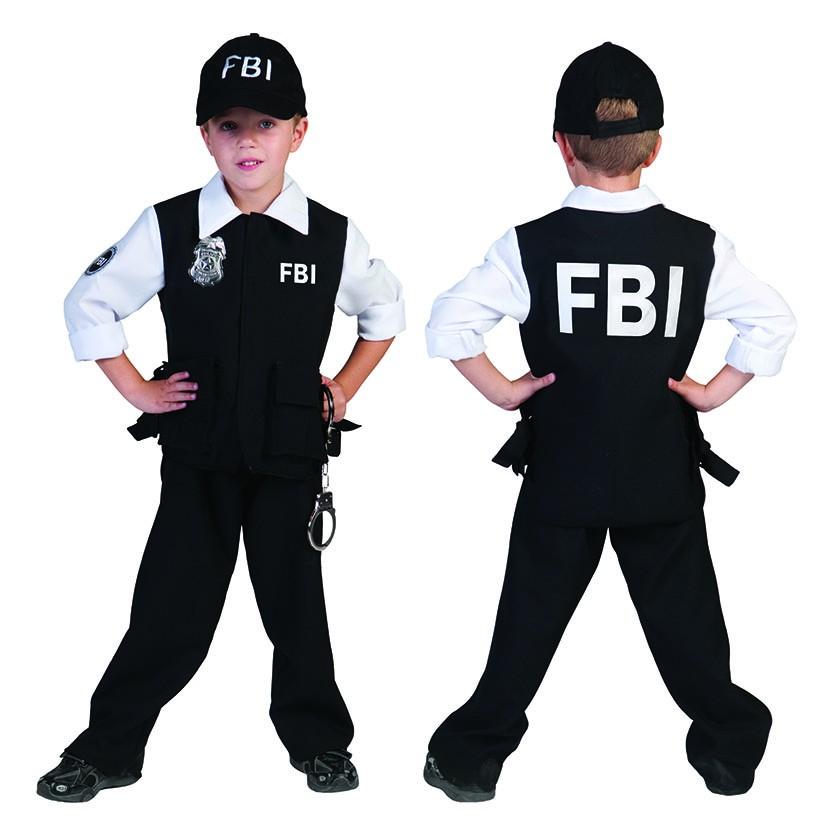 kinder kost m fbi agent agentin mit kappe polizist polizei karneval fasching neu kost me co. Black Bedroom Furniture Sets. Home Design Ideas