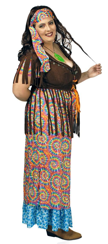 Hippie kostum langes kleid