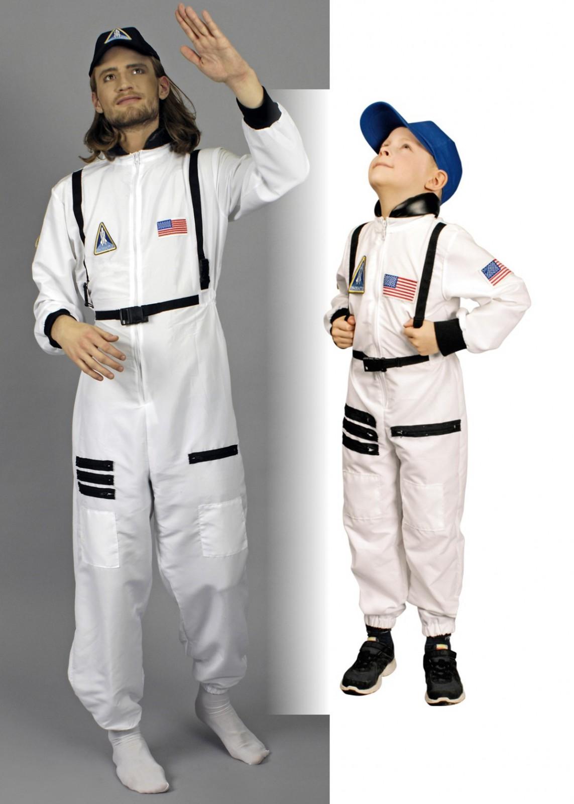 kost m astronaut mit kappe herren kinder astronautenanzug. Black Bedroom Furniture Sets. Home Design Ideas