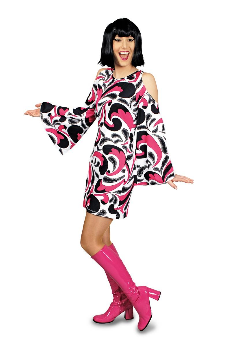 kost m avantgarde retro kleid hippie 70er jahre fasching karneval neu kost me co 20. Black Bedroom Furniture Sets. Home Design Ideas