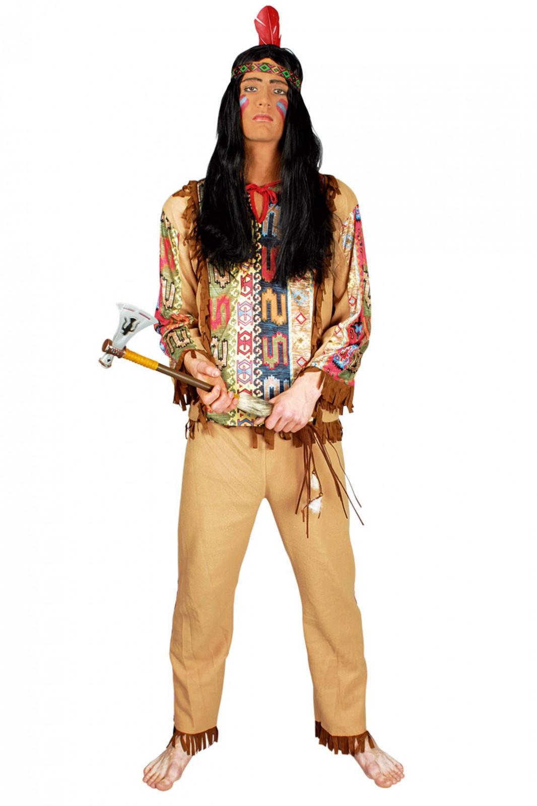 kost m indianer 3tlg wilder westen indianerkost m karneval kost me co indianer. Black Bedroom Furniture Sets. Home Design Ideas