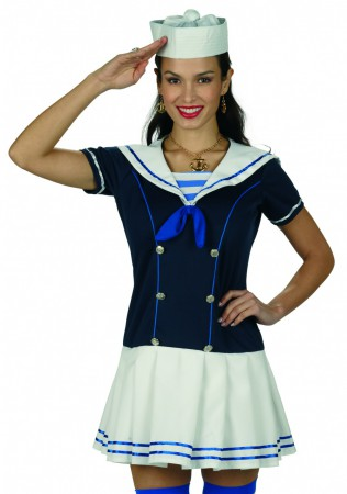 Kostüm Matrosin Sailor Girl Marine Kleid Matrosenkleid NEU – Bild 2