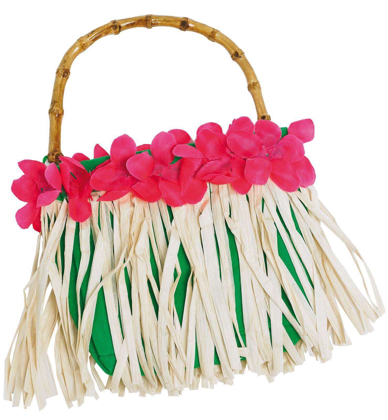 kost m accessoires tasche hawai beach hippie flower power karneval fasching neu kost me co. Black Bedroom Furniture Sets. Home Design Ideas