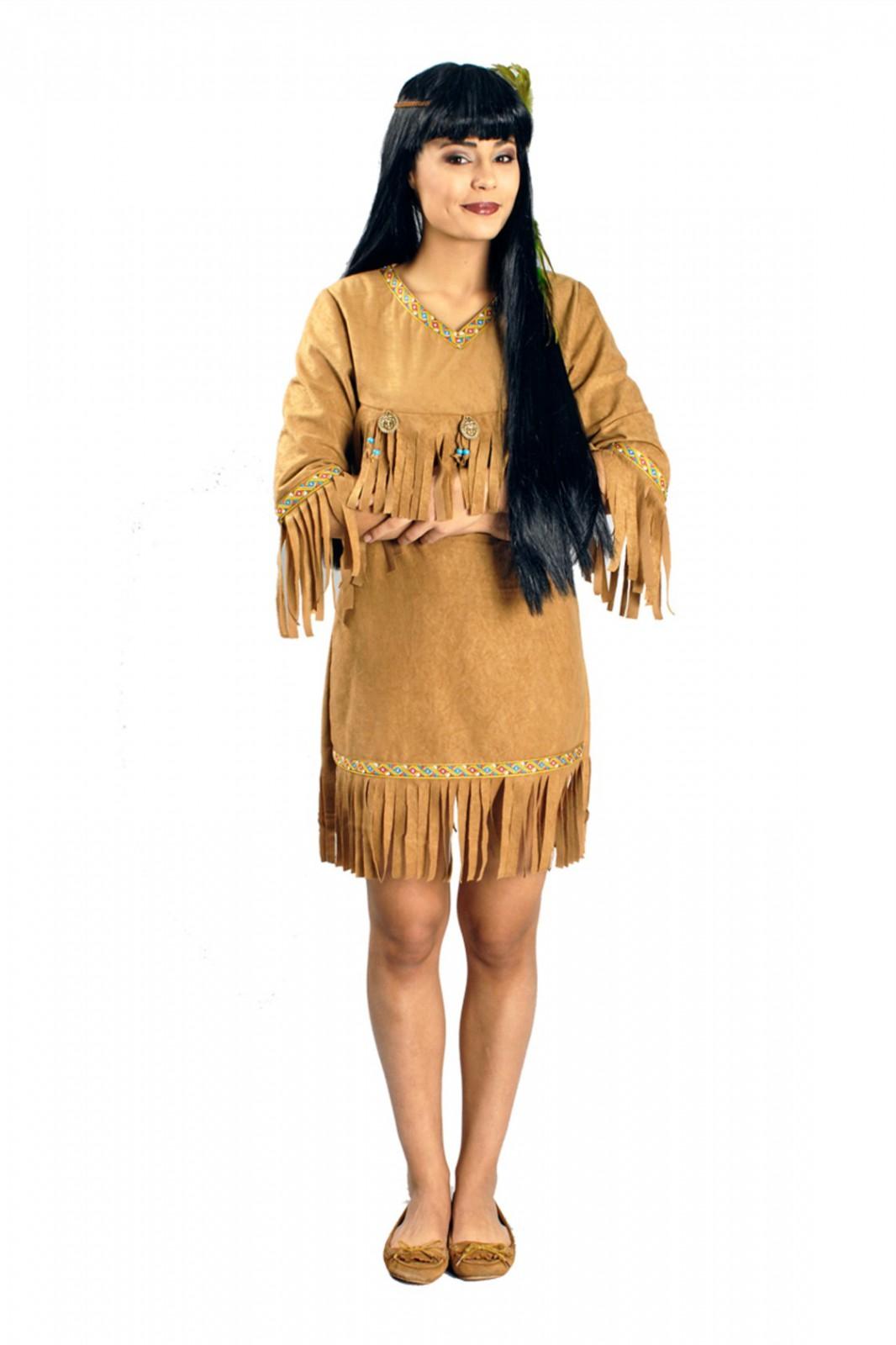 kost m indianerin damen m dchen wilder westen indianerkost m 36 46 karneval fasching. Black Bedroom Furniture Sets. Home Design Ideas