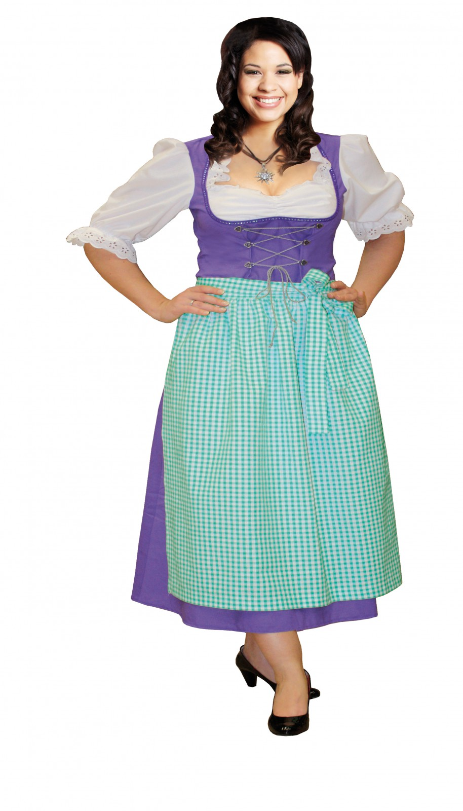 kost m dirndl lila dirndlkleid oktoberfest karneval. Black Bedroom Furniture Sets. Home Design Ideas
