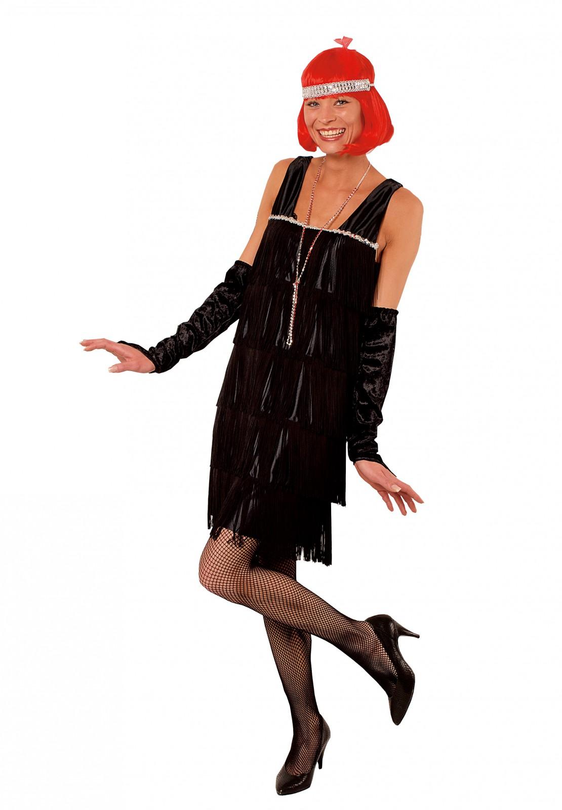 kost m charleston kleid fransenkleid 20er jahre bis karneval. Black Bedroom Furniture Sets. Home Design Ideas